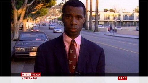 Clive Myrie in 1990 for the BBC (1)