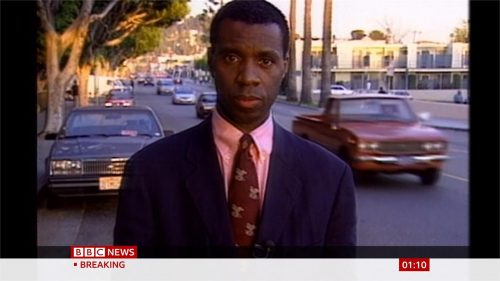 Clive Myrie in 1990 for the BBC (2)