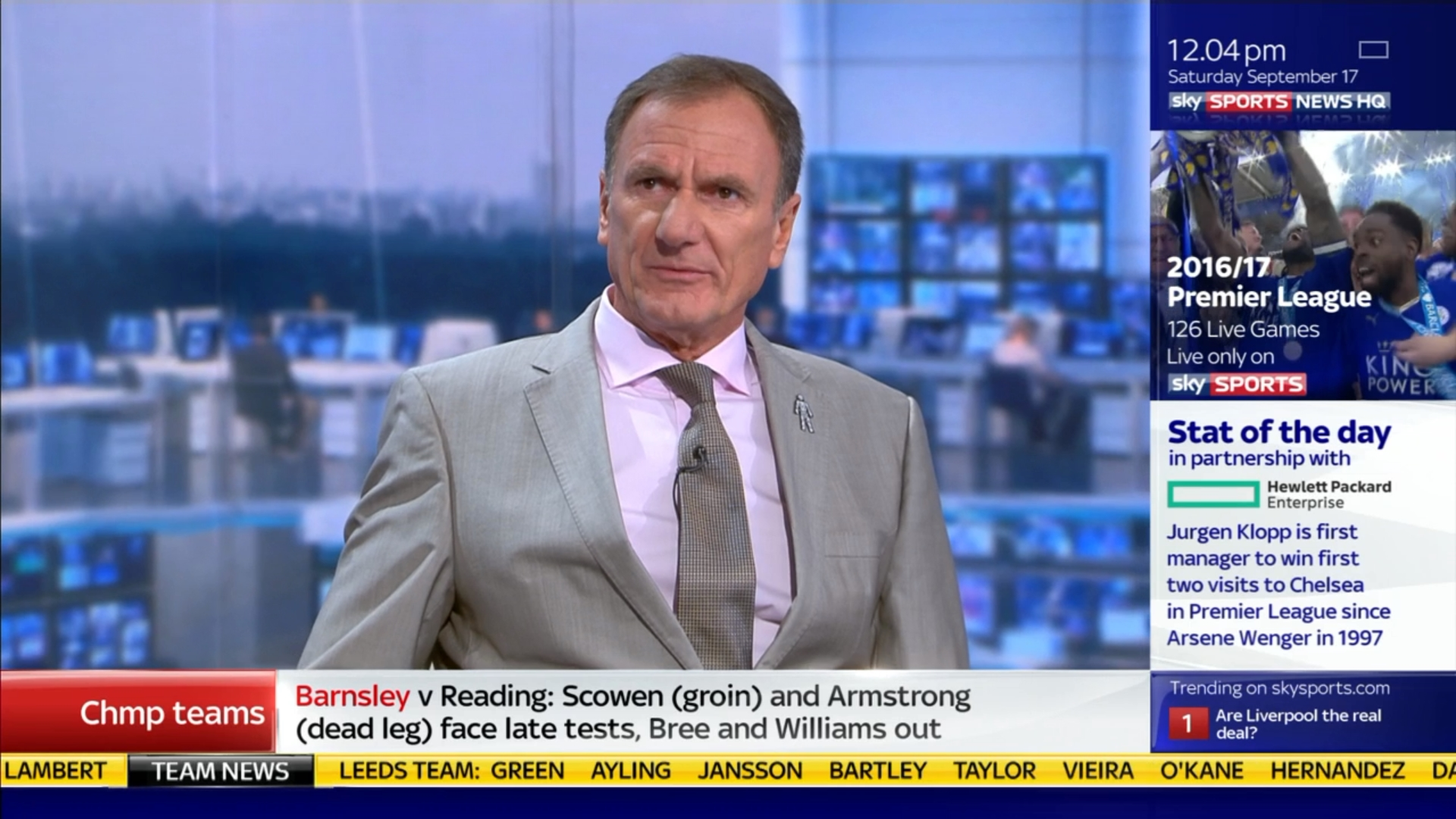 Phil Thompson - Sky Sports Soccer Saturday (1)