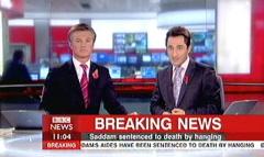Saddam Hussein Sentenced 2006 - BBC News Channel Tim WIllcox and Jonathan Charles (1)