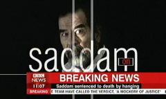 Saddam Hussein Sentenced 2006 - BBC News Channel Tim WIllcox and Jonathan Charles (4)