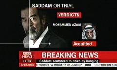 Saddam Hussein Sentenced 2006 - BBC News Channel Tim WIllcox and Jonathan Charles (5)