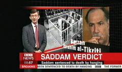 Saddam Hussein Sentenced 2006 - BBC News Channel Tim WIllcox and Jonathan Charles (6)