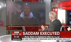 Saddam Executed 2006 - Brian Hanrahan and Annita McVeigh for BBC News Channel (3)