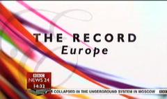 The Record Europe – BBC News Programme