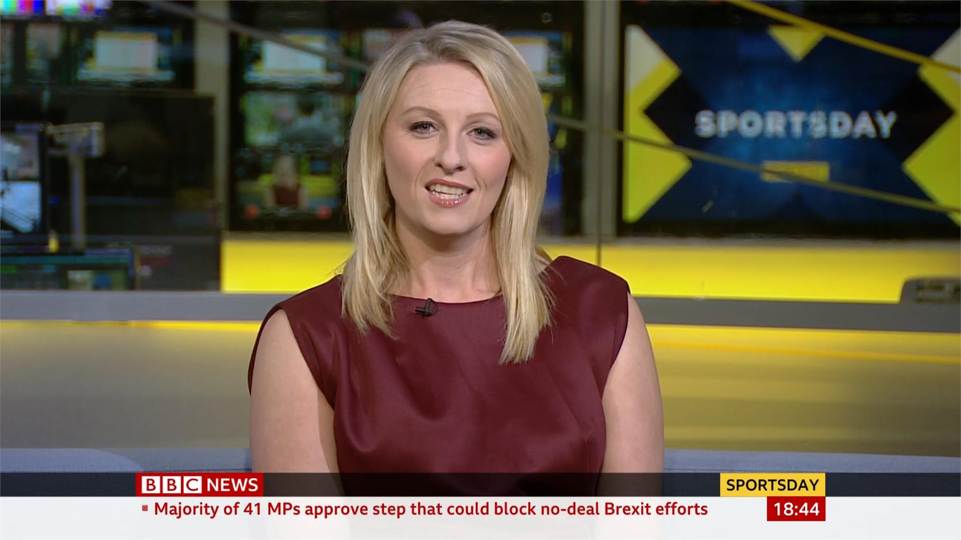 Jane Dougall - BBC News Sports Presenter (1)