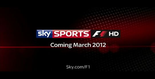 Sky Sports F1 HD launching on 22nd March 2012