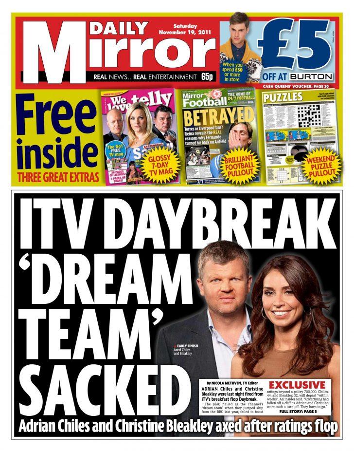 Bleakley, Chiles axed from ITV Daybreak?