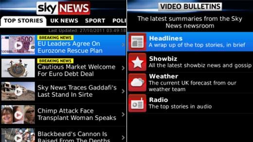 Sky News App for BB