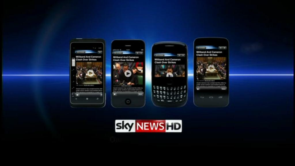 Mobile Applications – Sky News Promo 2012