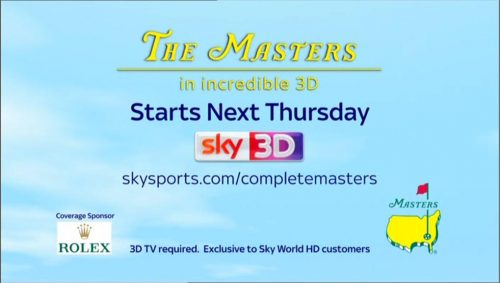 Sky Sports Promo - The Masters 2012 - 3D 04-02 23-08-10