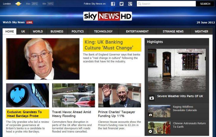 Skynews dot com 2012