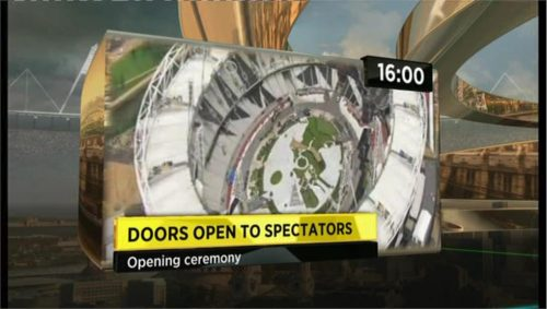 Example of BBC Sports graphics during London 2012 (2)