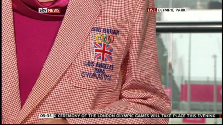 Images: Jacquie Beltrao broadcasts in her Olympic Blazer