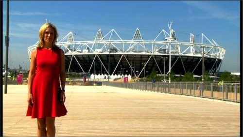 Sophie Raworth Presents from Olympic Park (1)