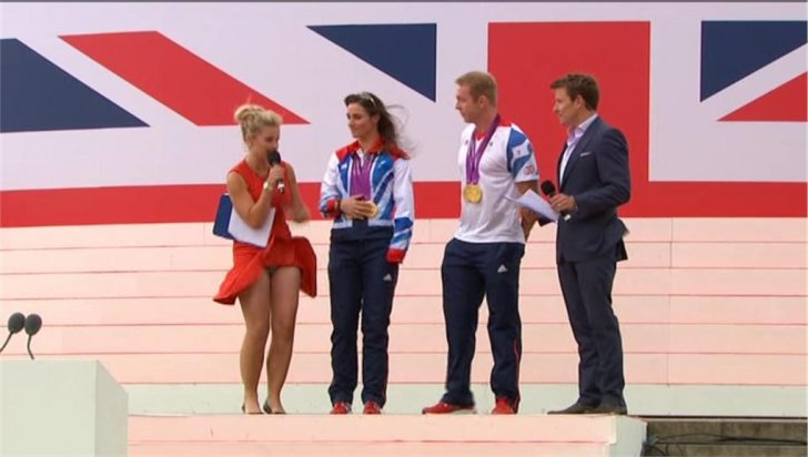 Video: Helen Skelton's knickers revealed in embarrassing live TV moment