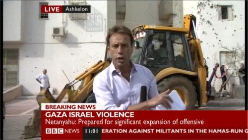 BBC NEWS - Ben Brown in Ashkelon
