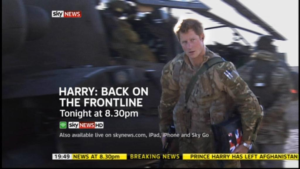 Prince Harry: Back On the Frontline – BBC News, Sky News