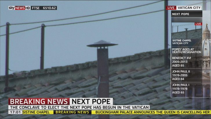 Sky News airs special HD side panels during Papal Conclave