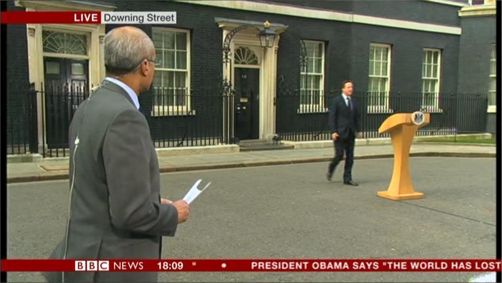 BBC cues Prime Minister David Cameron