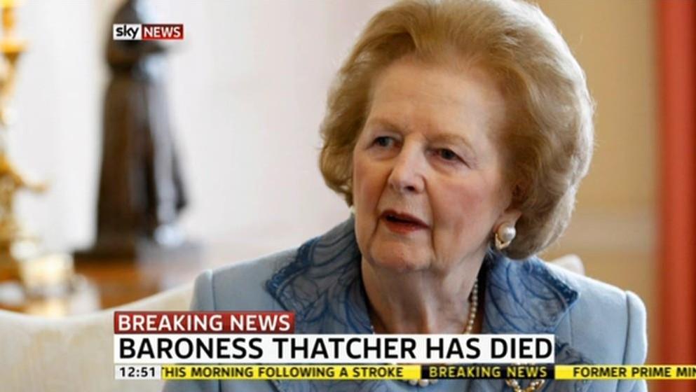 Margaret Thatcher Dies: BBC, ITV, C4 & Sky Atlantic to air documentaries