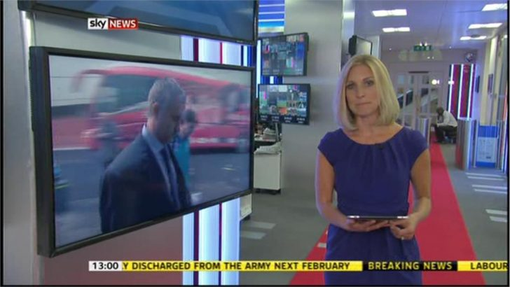 Sarah Hewson returns to Sky News after giving birth to Jack