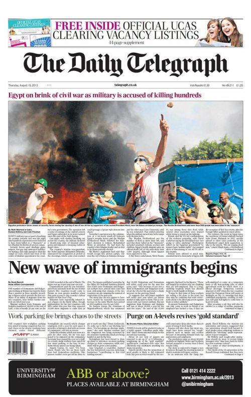 Mick Deane - Daily Telegraph
