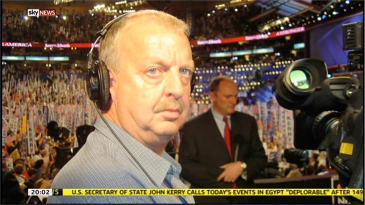 Images of Sky News Cameraman Mick Deane