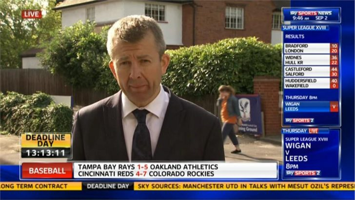 Deadline Day 2013: Jeremy Langdon Reporting on Crystal Palace