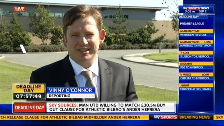 Deadline Day 2013: Vinnie O'Connor Reporting on Everton