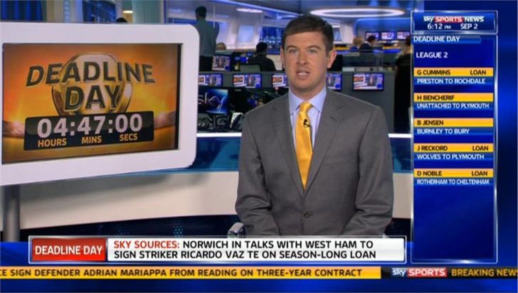 Deadline Day 2013: Andy Burton in Sky Sports' Transfer Centre