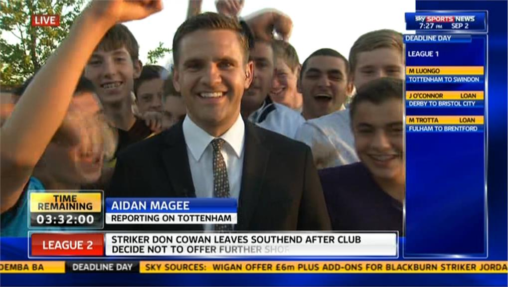 Deadline Day 2013: Aidan Magee Reporting on Tottenham Hotspur