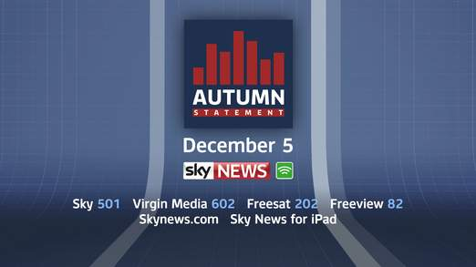 Autumn Statement 2013: Live on BBC News, Sky News TV