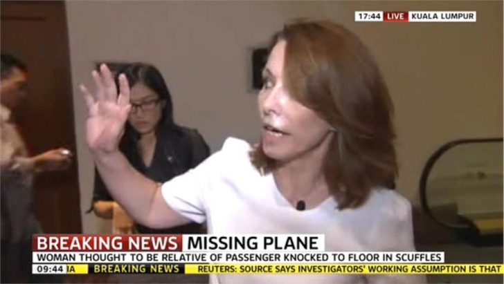 Video: Kay Burley on drama at missing plane news conference