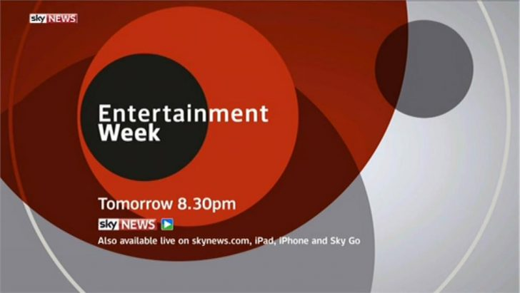'Entertainment Week' launches tonight on Sky News