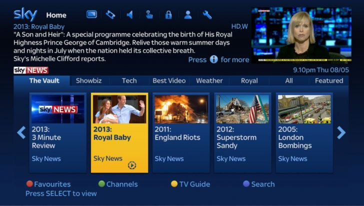 Sky News launches its Catch Up TV Service on Sky's On Demand