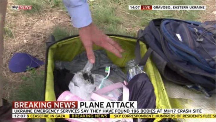 Sky News apologises after going through MH17 luggage on air