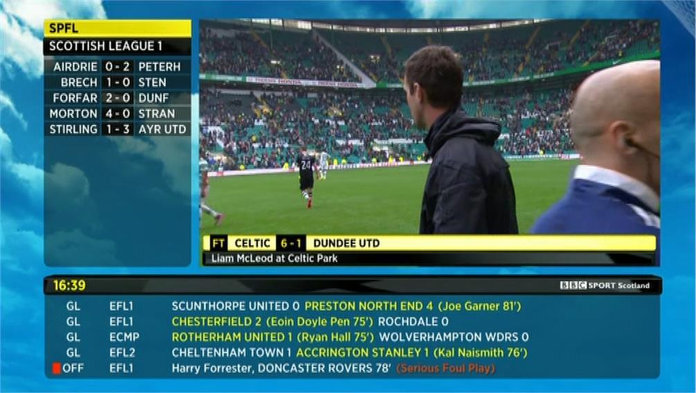 bbc sport football results