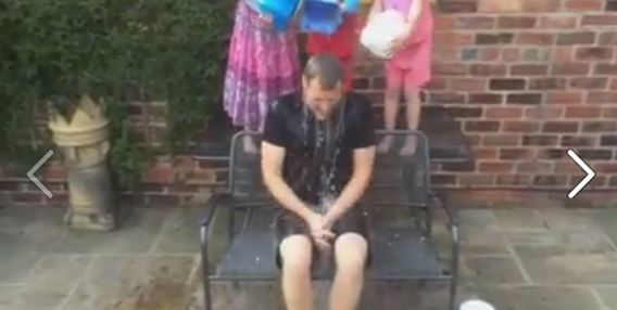BBC's Dan Walker takes the Ice Bucket Challenge