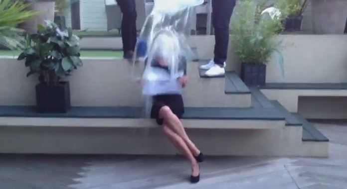 Jackie Kabler does the Ice Bucket Challenge