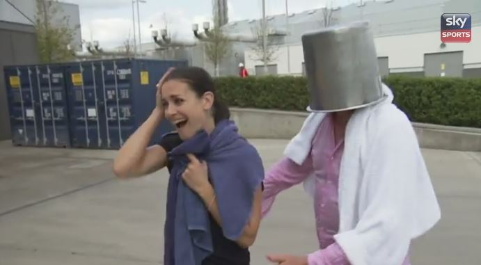Jim White & Kirsty Gallacher take the ALS Ice Bucket Challenge