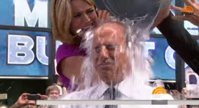 NBC Today's Matt Lauer takes the Ice Bucket Challenge
