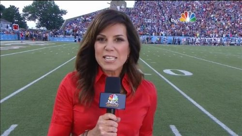 Michele Tafoya - NFL on NBC Sports - Sideline Reporter (1)