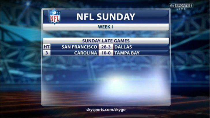 Sky Sports 1 Live NFL 49ers @ Cowboys 09-07 23-06-05