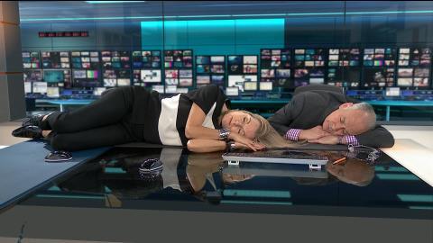 Bedless - Mary Nightingale and Alastair Stewart - ITV News