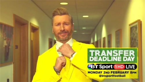 BT Sport Promo - Transfer Deadline Day 2015 with Robbie Savage and Lynsey Hipgrave (11)