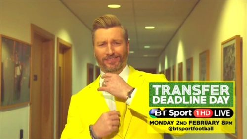 BT Sport Promo - Transfer Deadline Day 2015 with Robbie Savage and Lynsey Hipgrave (12)