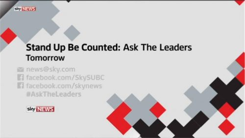 Sky News Promo 2015 - Ask The Leaders  (10)