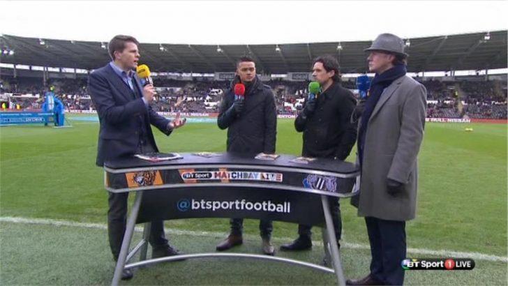 Steve McManaman dressed as Inspector Gadget  on BT Sport (1)