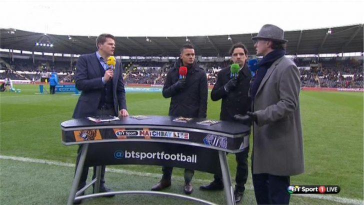 Steve McManaman dressed as Inspector Gadget  on BT Sport (2)
